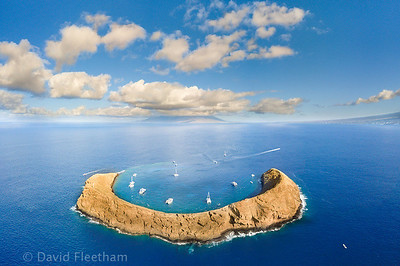 Molokini Crater, Hawaii © David Fleetham