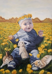 """Charm"" (oil on canvas) by Helen Bogdan"