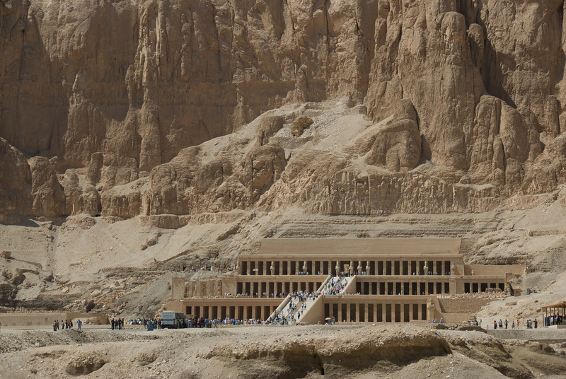 Panoramic view of the Hatshepsuts Temple - Luxor, Egypt