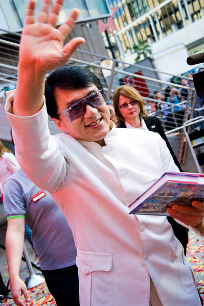 HOLLYWOOD, CALIFORNIA - Jackie Chan attends the unveiling of his wax statue in the courtyard of Madame Tussaud's Hollywood. Photo taken by Tom Sorensen, Moovieboy Pictures Monday, January 11th, 2010.