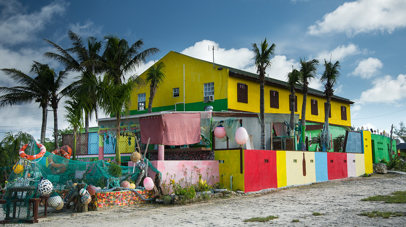 A store/restaurant in Whitby, North Caicos Island