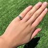 1.15ctw Emerald Cut Diamond Trilogy Ring 8