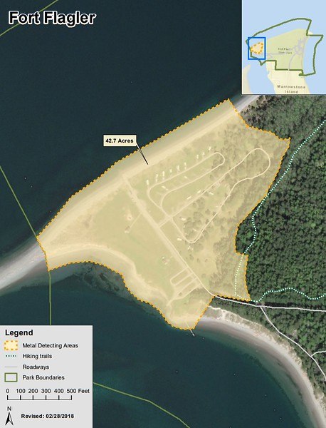 Fort Flagler Historical State Park (Metal Detection Areas)
