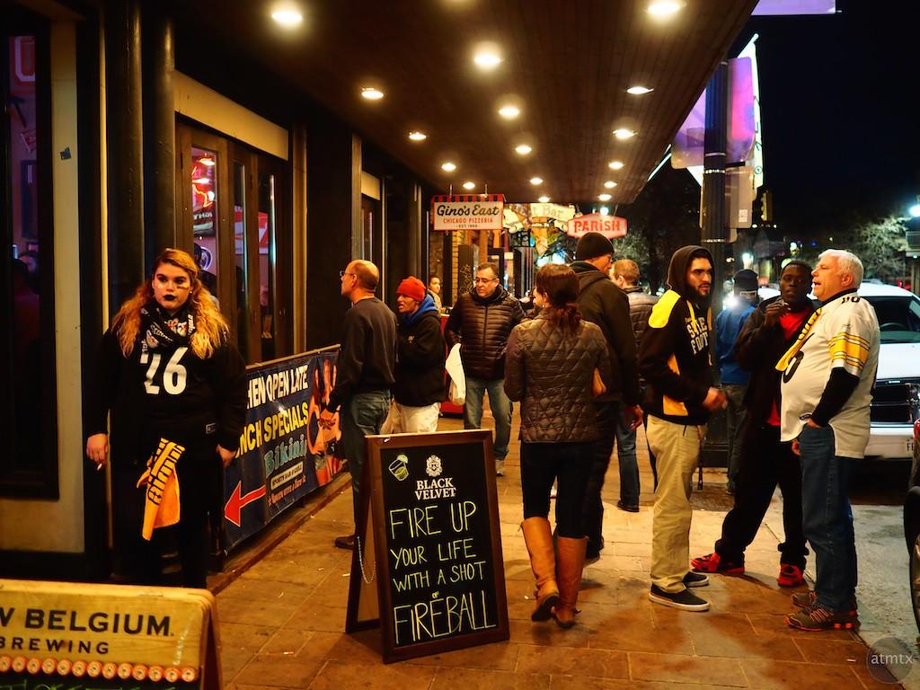 Football Fans, 6th Street - Austin, Texas