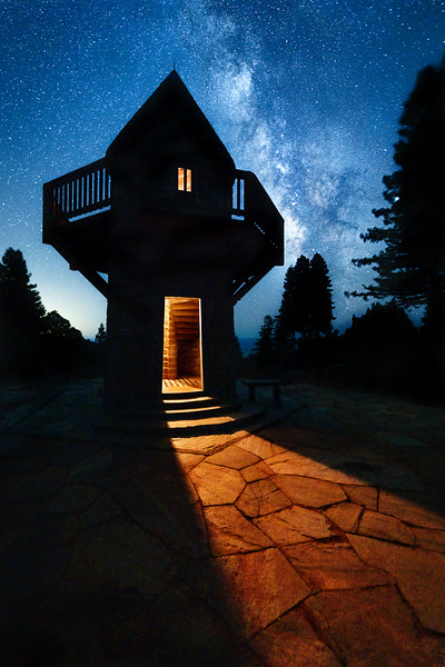Watchtower & Milky Way, Study 3