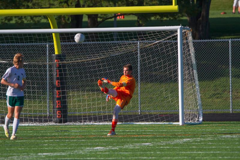 Holy Family Varsity Soccer vs. Delano, 9/19/19: Bryce Richter '20 (1)
