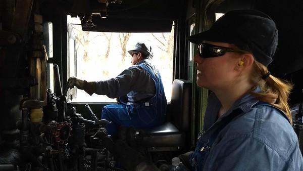 2018-12 Bruce Rides the Train Engine Cab