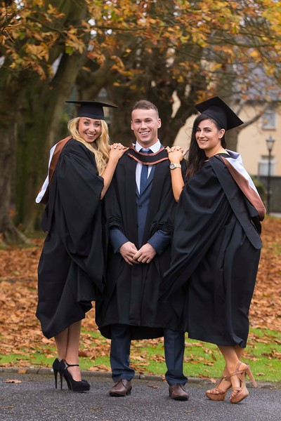 30/10/2015. Waterford Institute of Technology Conferring. Pictured are Christine Healy, Kilkenny, Mathew O'Rourke, Kill and Elanna Forrestal, Waterford. Picture: Patrick Browne