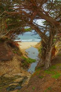 Creek to Pacific Ocean - Half-Moon Bay, CA
