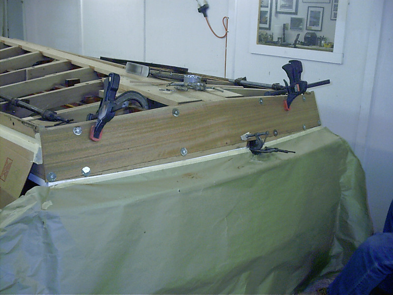 new bottom transom plank