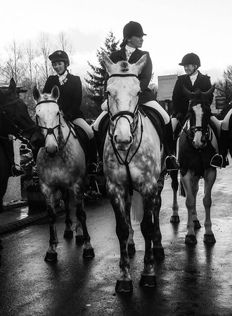 The hunt meet, Boxing Day, Longlands UK.