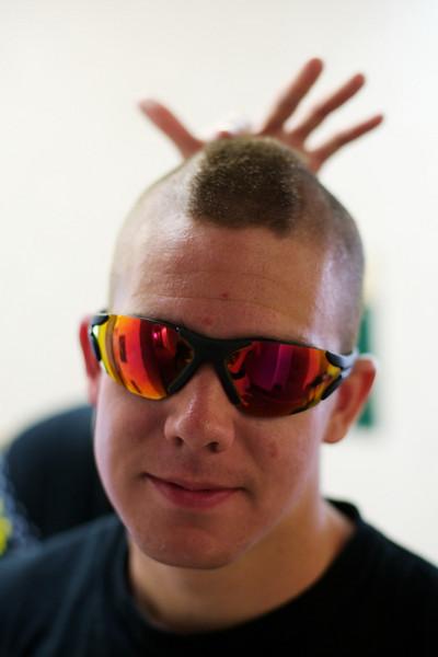 Ryan, showing off his bad-ass haircut.