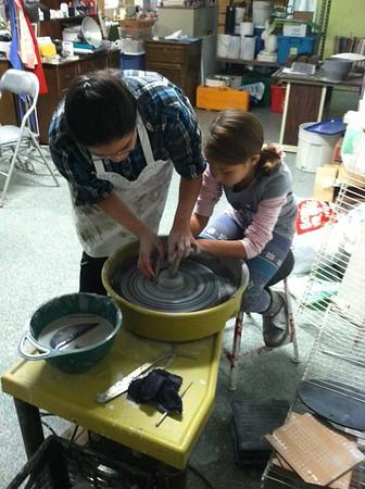 Making a New Glass Sign, Community Arts Center, Tamaqua (11-22-2014)