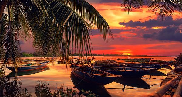 Vinh Cura Dai river in Hoi An Vietnam