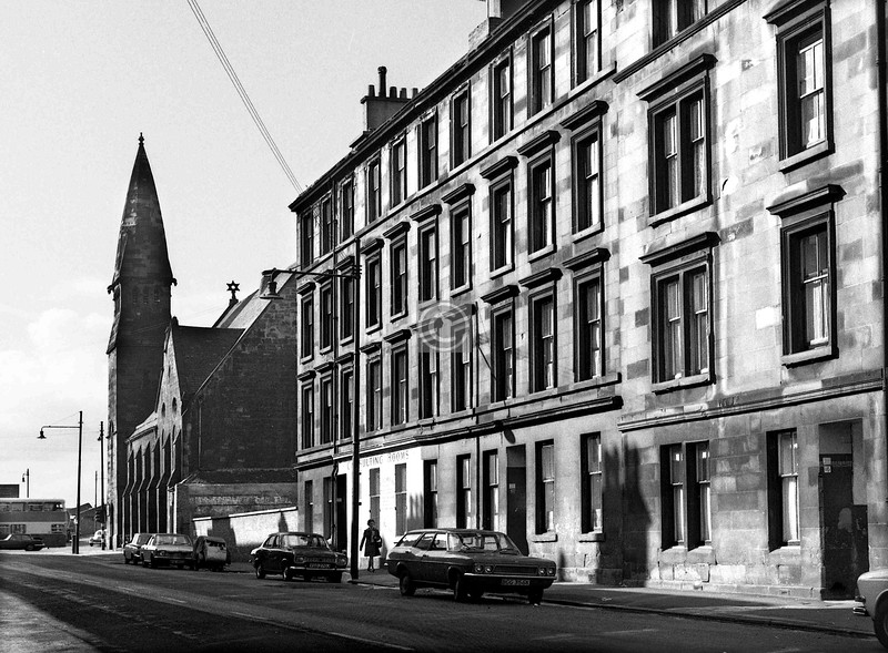 Devon St, north side, west of Abbotsford Place.  