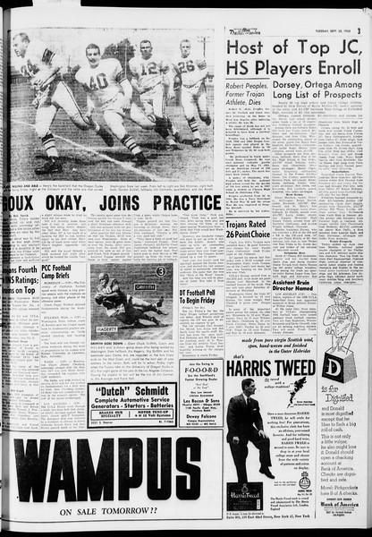 Daily Trojan, Vol. 47, No. 3, September 20, 1955