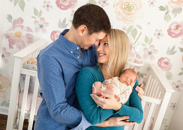 Baby with family