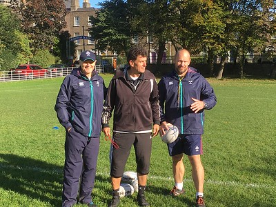 Rugby training with Joe Schmidt