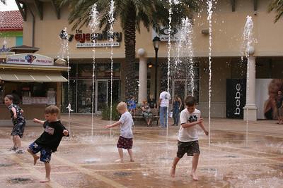 Boys do love water!