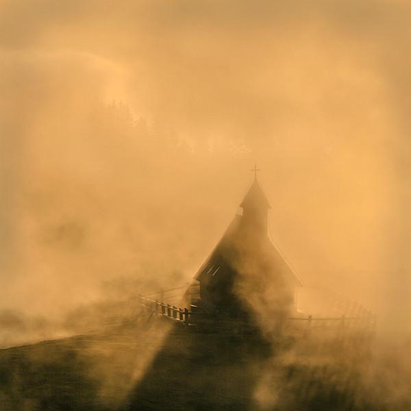 Misty chapel