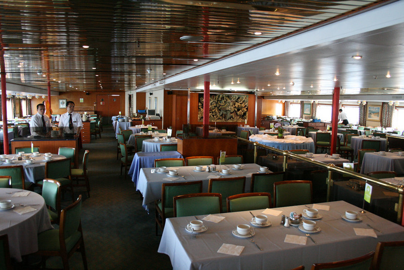 On board T/S FUNCHAL : Lisboa restaurant, Azores deck.