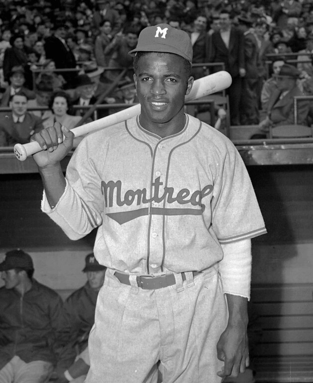 . Montreal Royals Jackie Robinson poses on April 18,1946. Robinson broke the color barrier and changed baseball forever.(AP Photo/John J. Lent)
