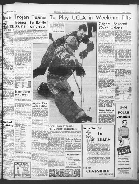 Daily Trojan, Vol. 30, No. 71, January 20, 1939