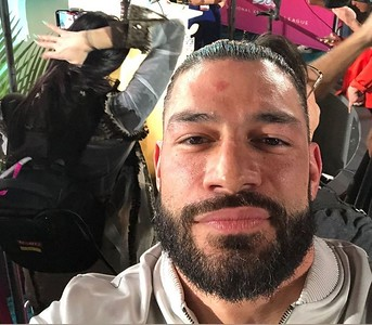Roman Reigns - Candids/ SF 49ers Media Day