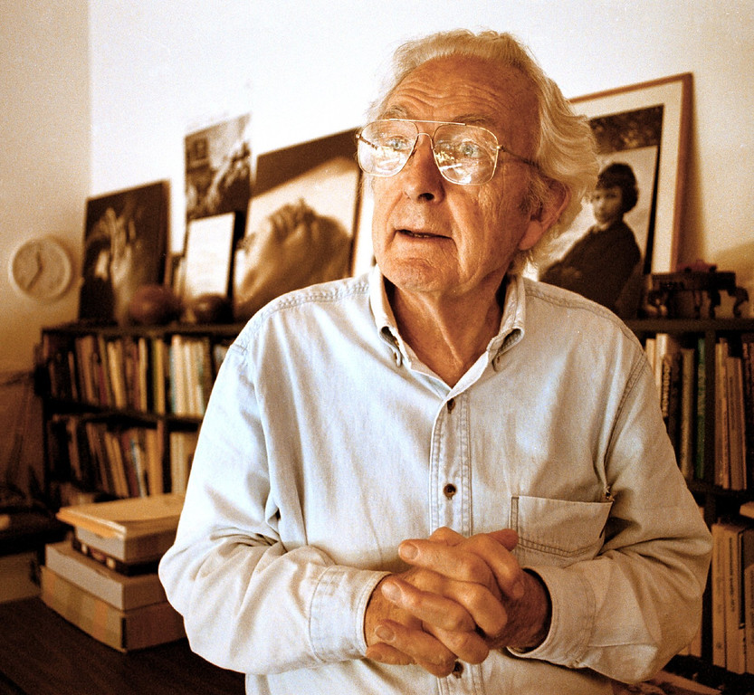 . Photojournalist Wayne Miller, photographed in Orinda, Calif., in 2001, gathered his life\'s work from World War II, South Chicago, and Life magazine and donated it to the Center for Creative Photography at the University of Arizona.   (Stephen J. Pringle/Bay Area News Group Archives)