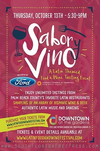 Sabor Vino - Downtown At The Gardens, Oct 13th