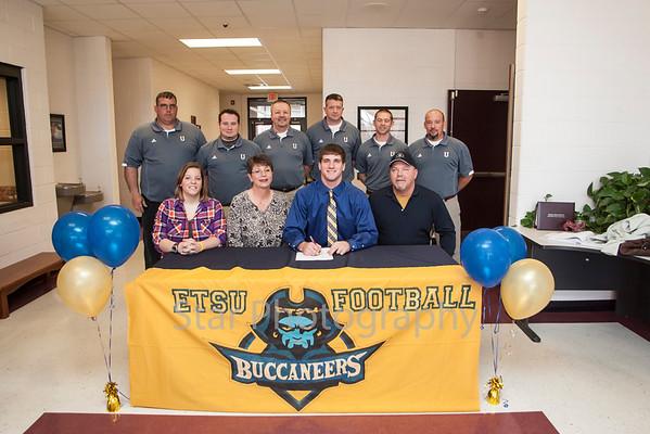 Austin Anderson signing with ETSU football at Unaka High School 03-31-14