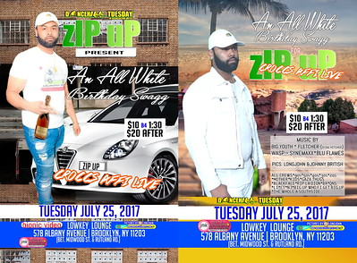 """ZIP UP """"ALL WHITE BIRTHDAY SWAGG 2017""""(15)"""
