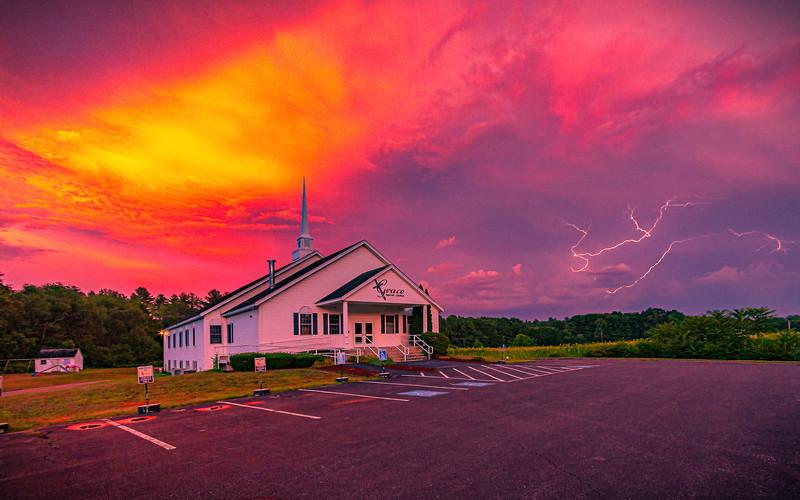 Pepperell church at Sunset bright sky.jpg