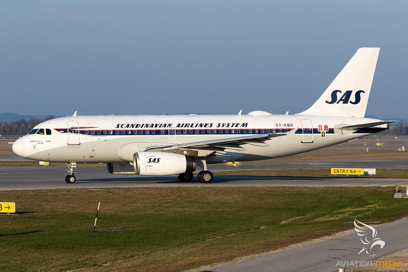 SAS / Airbus A319 / OY-KBO / Retro
