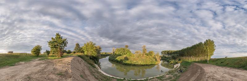 Secchia River Bend - San Benedetto Po, Mantua, Italy - October 4, 2019
