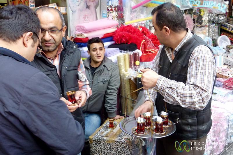 Tea Delivery Near Spice Market - Istanbul, Turkey