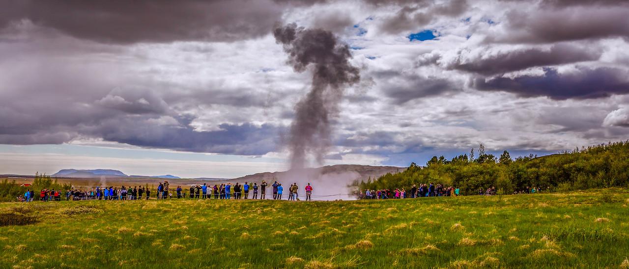 冰岛盖西尔(Geysir),围观奇景