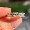 1.28ctw Asscher Cut Diamond 5-Stone Band, 18kt Yellow Gold 5