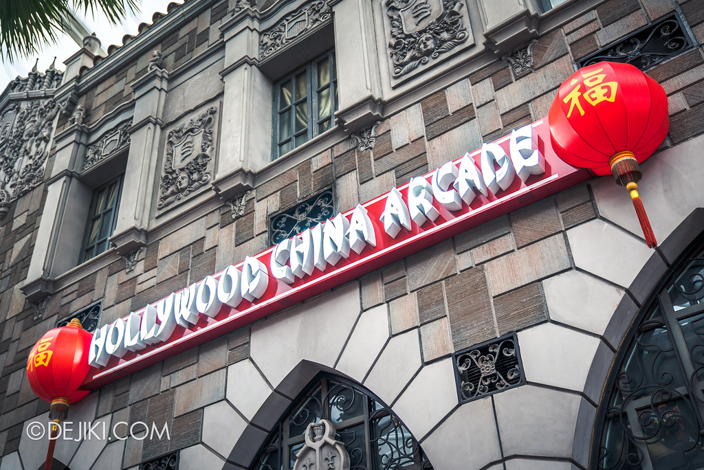Universal Studios Singapore Park Update November 2017 - Hollywood China Arcade outside