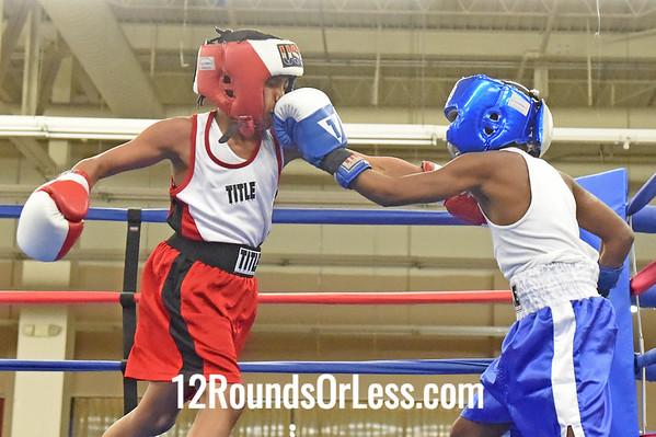 Bout 3 Amari Washington, Red Gloves -vs- Glen Grisby, Blue Gloves, 1 Min. Rds.