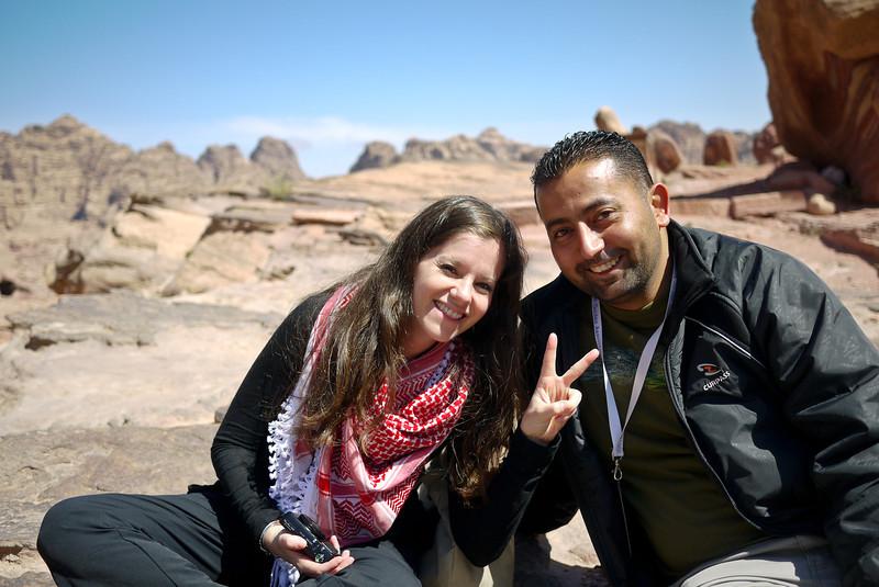 Jodi and Ali take a break in Petra, Jordan.