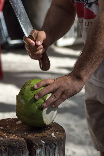 Coconut Cutter - Isla Mujeres, Quintana Roo, Mexico - August 18, 2014