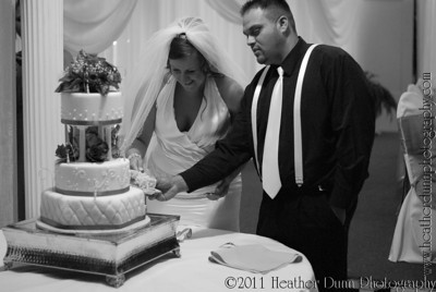 Amy and Joey Cutting the Cake