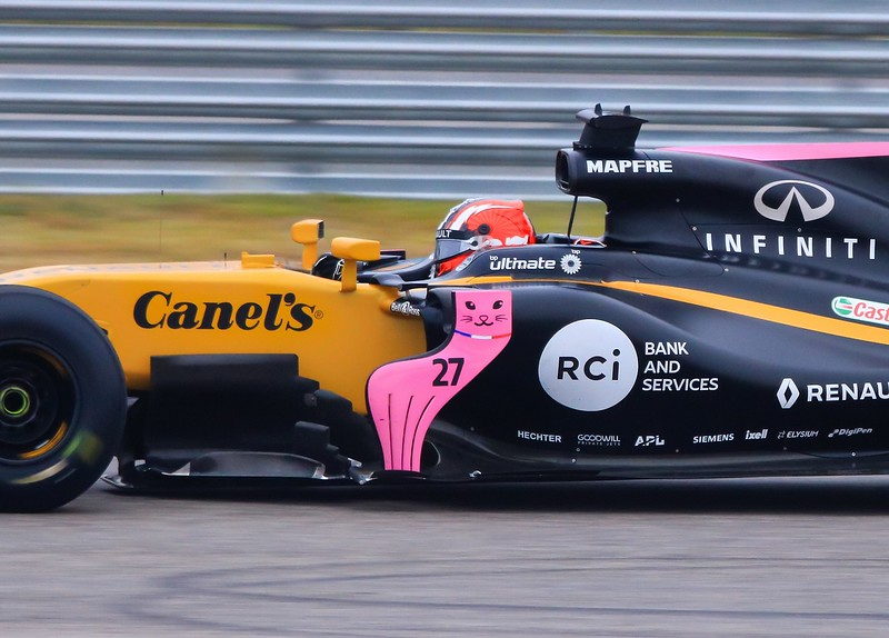 Renault Team driver Nico Hulkenberg  in turn 4 @ about 180 MPH.