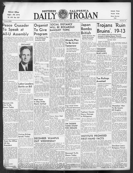 Daily Trojan, Vol. 29, No. 53, December 06, 1937