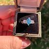 1.73ctw Blue Marquise Cut Diamond Trilogy Ring 16