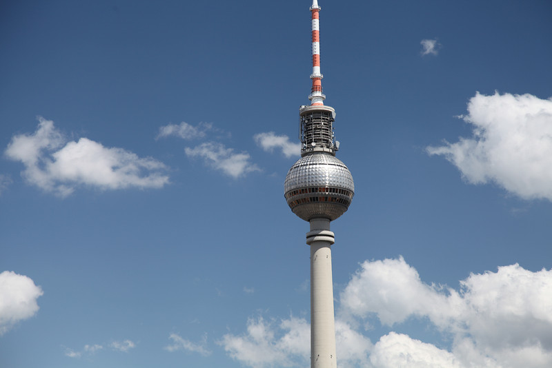 The Television Tower in Berlin is the tallest structure in Germany at 368 meters.