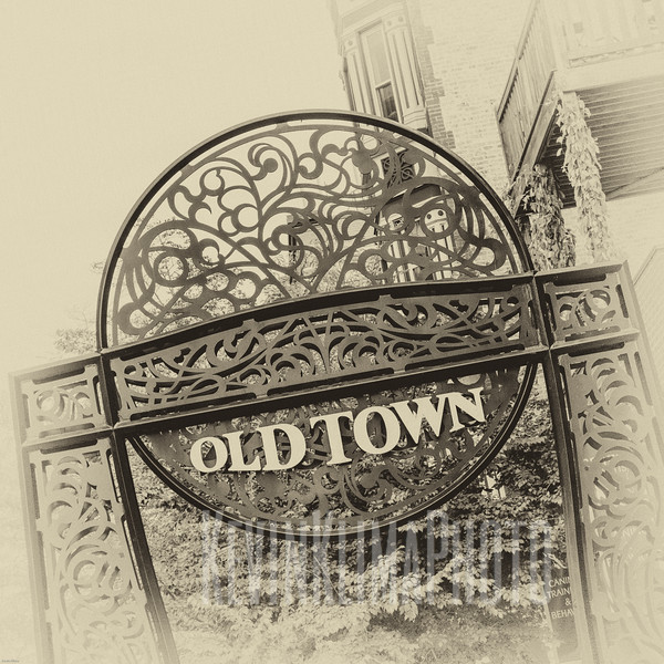Old Town Neighborhood Sign