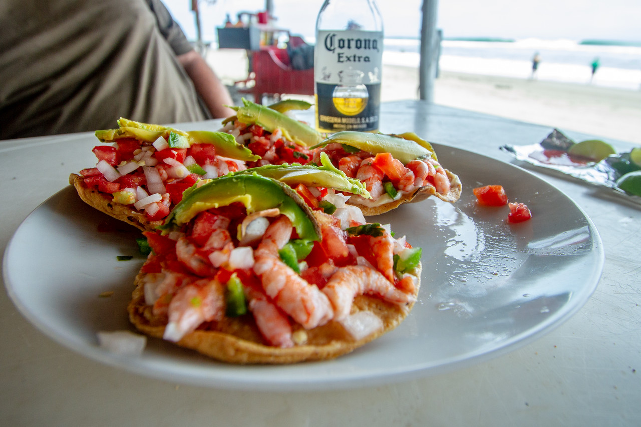Overpriced but Delicious Shrimp Tostada at Puerto Arista