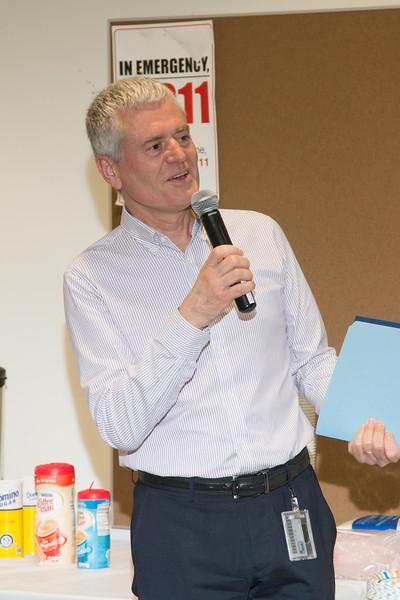"Division Director Mark Clampin make remarks -- Retirement party for Robin ""Tuck"" Stebbins, NASA/GSFC, May 20, 2016"
